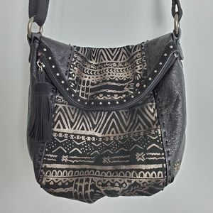 The Sak Leather Bag with Tribal Design